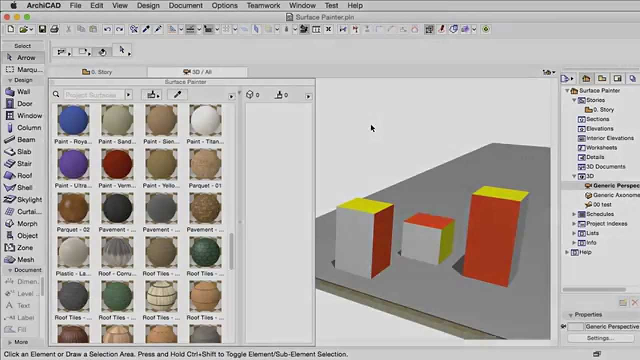 Surface Painter Palette | User Guide Page | GRAPHISOFT Help Center
