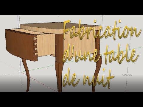 comment fabriquer une table de chevet pieds type louis xv partie 1 la structure youtube. Black Bedroom Furniture Sets. Home Design Ideas