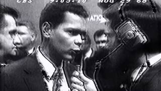 Dad (Ted Warshafsky) nominates Julian Bond at the 1968 Democratic Convention
