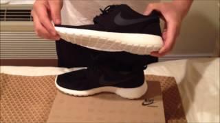 видео Nike Roshe Run black grey red