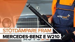 Så byter du stötdämpare, fram på MERCEDES-BENZ E W210 [GUIDE]