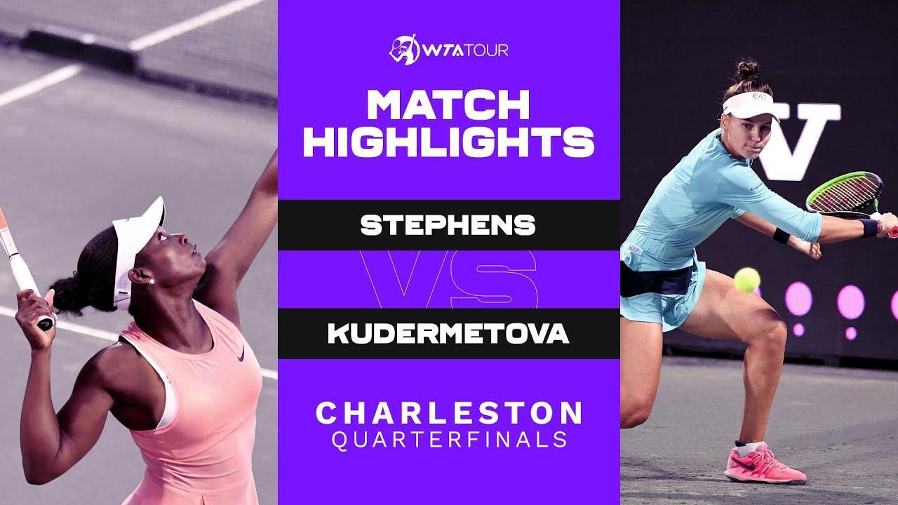 Veronika Kudermetova vs. Sloane Stephens   2021 Charleston Quarterfinals   WTA Match Highlights