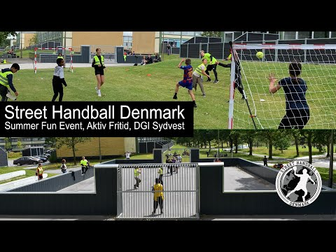 Street Handball Denmark to Summer Fun event with Aktivfritid and DGI Sydvest