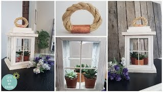 FARMHOUSE DIY LANTERN FROM DOLLAR TREE FRAMES | HOME DECOR | SPRING | DIY MAKE IT YOUR OWN MONDAY