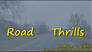 US Route 1 in Virginia - from Ladysmith to Spotslyvania