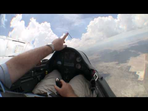Glider Cockpit Tour While Flying Between the Clouds
