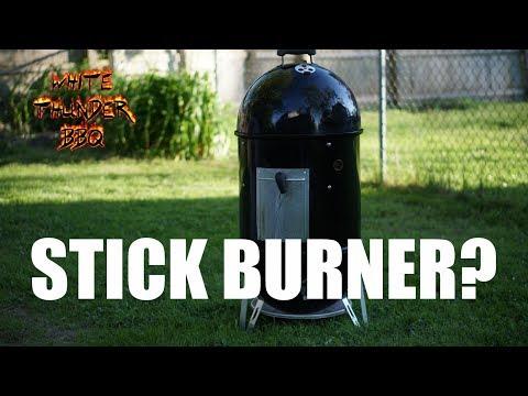Weber Smokey Mountain Stick Burner Method