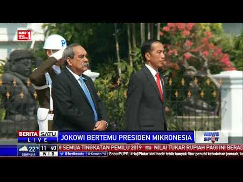 Jokowi Terima Kunjungan Presiden Federasi Serikat Mikronesia di Istana Bogor