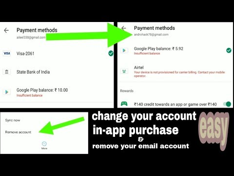 How To Change In App Purchase Account (Android)