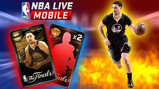 PLAYER OF THE GAME BUNDLE OPENING   CAN WE PACK 99 OVR KLAY THOMPSON?? NBA LIVE MOBILE FINALS PACKS!