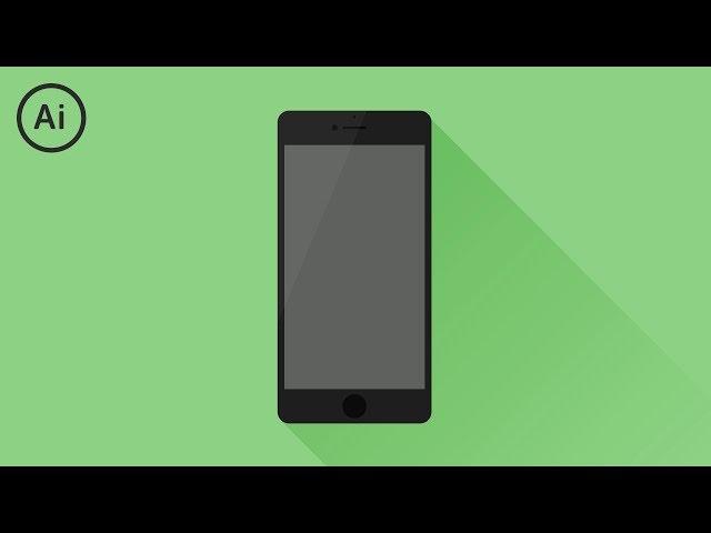Flat Design Phone | Illustrator Tutorial