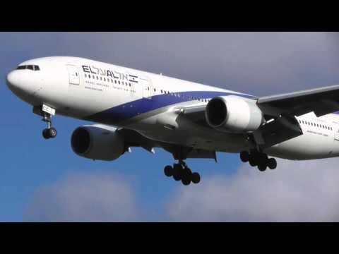 Good EL Al Israel Airlines 777 4X ECC From Tel Aviv Lands Heathrow 15Feb16 1217p
