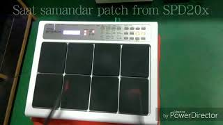 Saat Samandar Patch with Patch detail ROLAND SPD20X