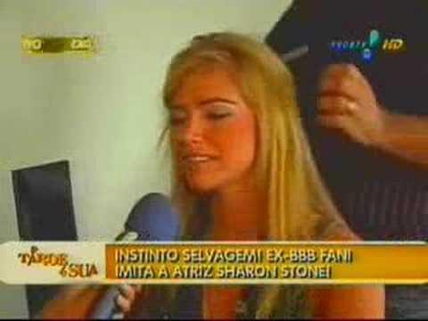 Fani Pacheco como Sharon Stone por João Pedro Samp...