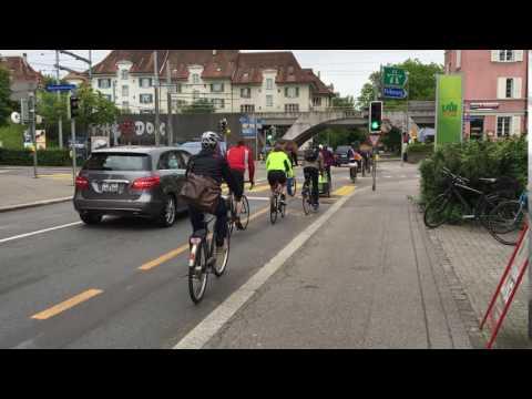 Velo-Rushhour Könizstrasse Bern