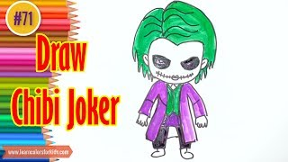 How to Draw Chibi Joker from Batman #71