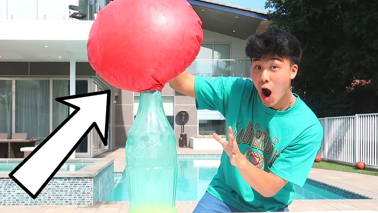 Making The Craziest Explosion Ever... (Placing 72 INCH BALLOON)