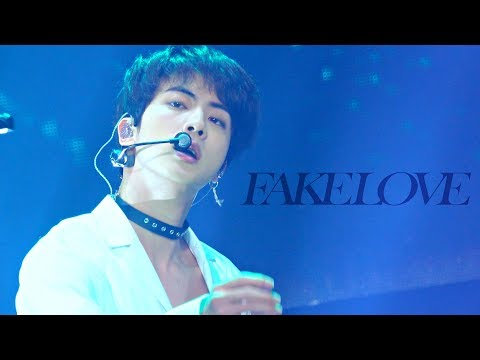 4K) FAKE LOVE 181128 AAA 방탄소년단 석진 직캠 BTS CHOCKER Jin focus fancam