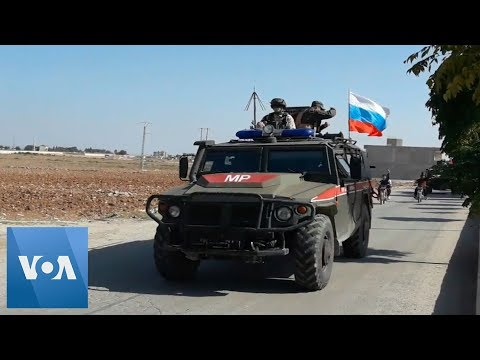 Russian Military Vehicles Entering Kobani, Syria