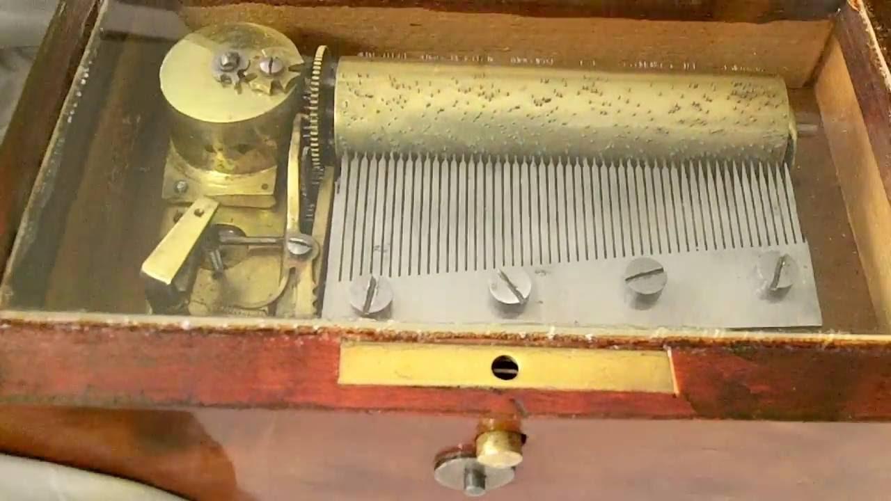 1890s antique Swiss music box
