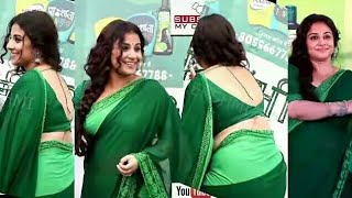 actress Vidya balan hot in green saree