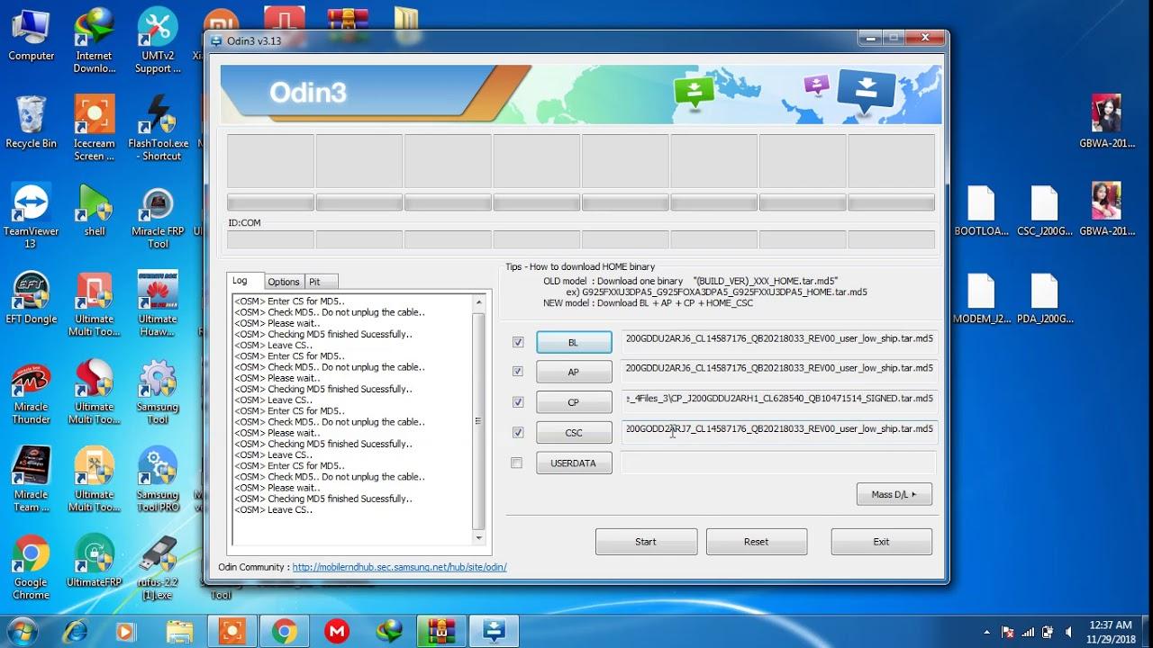 samsung j200g flash 4 file with odin