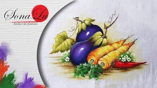 Legumes em Tecido por Sonalupinturas