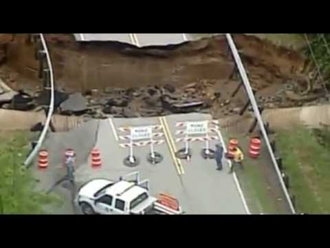 Ohio Highway Collapses After Heavy Rains Hit Highland County