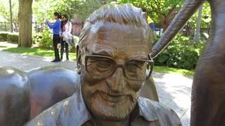 The Dr. Seuss National Memorial Sculpture Garden in Springfield, Massachusetts USA