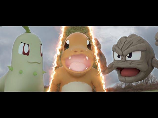 Mira una batalla de Pokemon en la vida real