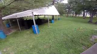 40' x 60' Losberger tent rental in Iowa City, IA (fly though)