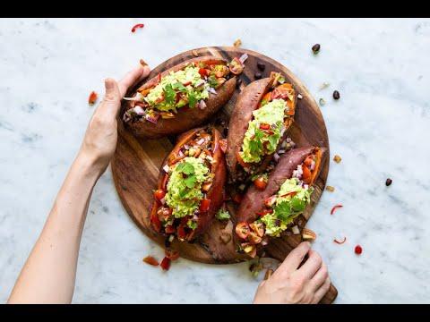 MEXICAN STUFFED SWEET POTATOES | Gluten Free, Dairy Free, Paleo, Healthy