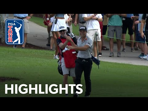 Hovland holes out FROM THE TREES at TOUR Championship | 2021