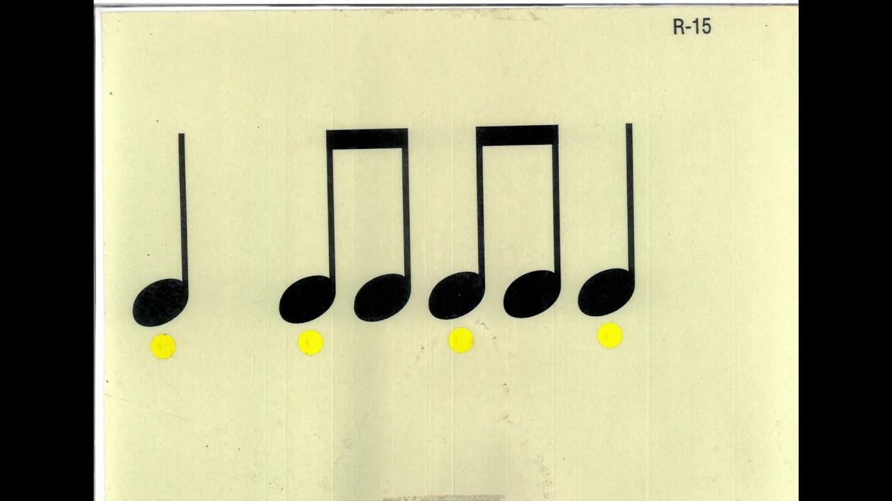 RITME BÀSIC 6 (9 FÓRMULES RÍTMIQUES. BLANCA). Rhythm Reading.
