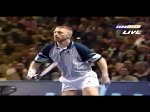 Boris Becker vs Michael Chang Final ATP Tour 1995 Part.1