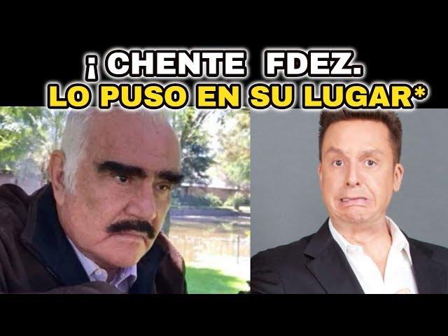 🔴¡ ATENCIÓN HACE UNAS HORAS ! VICENTE FERNANDEZ