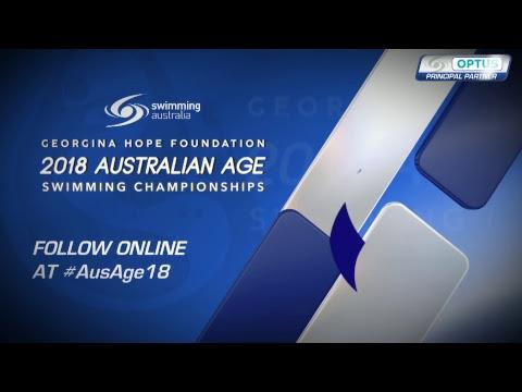 Day 5 FINALS  2018 GEORGINA HOPE FOUNDATION AUSTRALIAN AGE SWIMMING CHAMPIONSHIPS