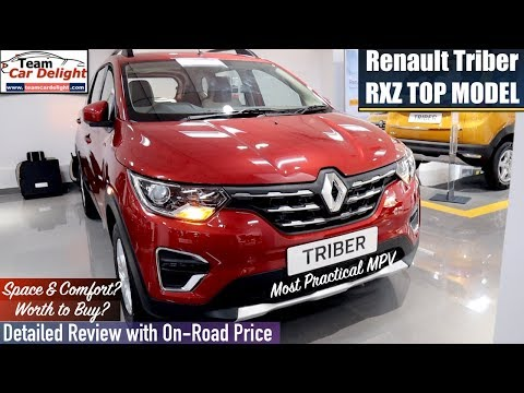 Renault Triber Detailed Review with On Road Price,Features,Interior | Triber Top Model
