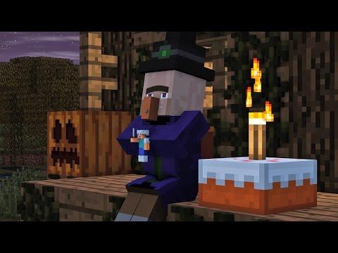 Villager & Witch Life 2 - Alien Being Minecraft Animation