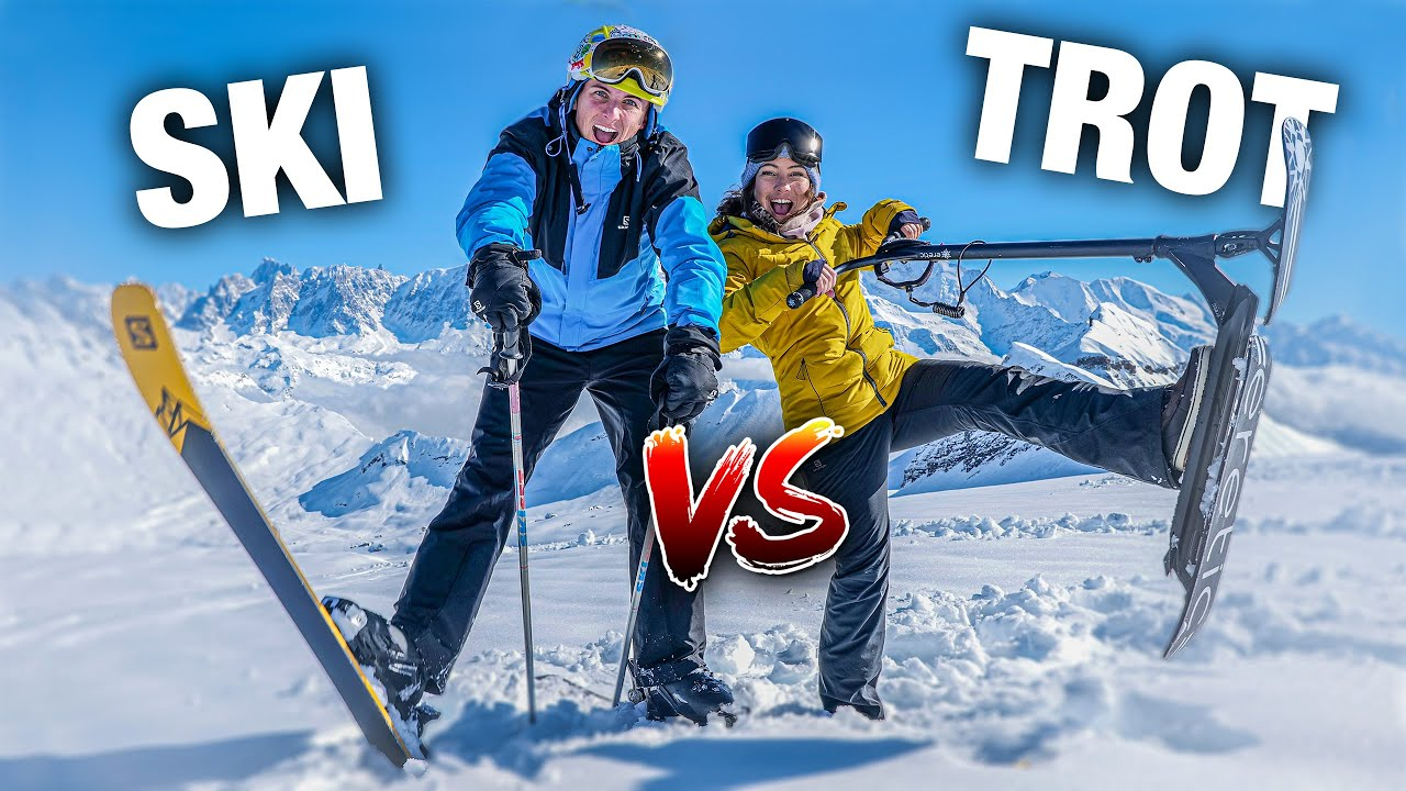 ON ÉCHANGE NOS SPORTS ! #5 (TROTTINETTE VS SKI Freestyle)