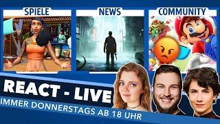 Sims 5: Wünsche und Hoffnungen, Drama um Sinking City und EURE Themen in REACT LIVE