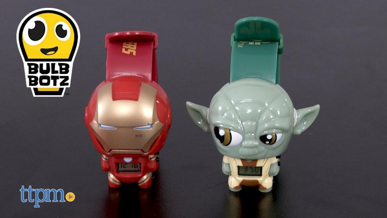 89b6405e22e0 Marvel Avengers Iron Man   Star Wars Yoda Light Up Digital Watch from  BulbBotz