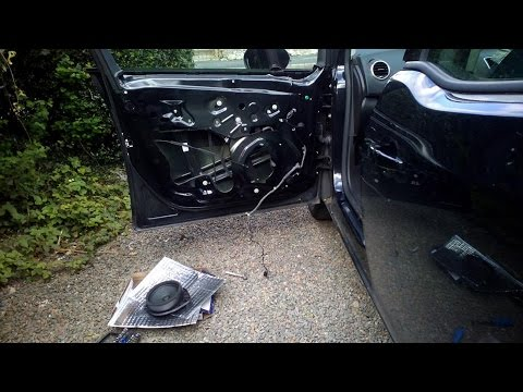 Vauxhall Opel Meriva B Front Door Card Removal Youtube