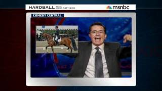 Colbert Report horses around over news of Romney Olympic-bound horse