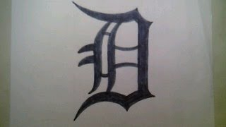 How To draw The Detroit Tigers Logo #2 Sign Symbol Emblem Easy Step By Step Tutorial Challenge