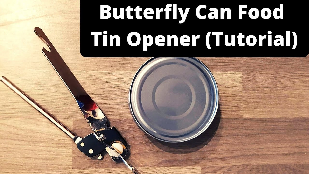 CAN TIN STEEL CAMPING BOTTLE BUTTERFLY STAINLESS TOOL FOOD JAR KITCHEN OPENER