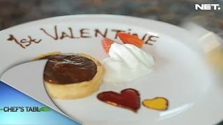 Chef's Table - Dessert - Chocolate Pie With Mango And Raspberry Coulis