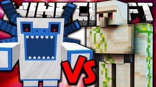 MUTANT ALPHA YETI VS IRON GOLEM - Minecraft Batalha de Mobs - Minecraft Mods