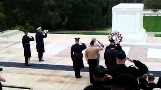 Indianapolis Veterans Wreath placed at the Tomb of the Unknown Soldier