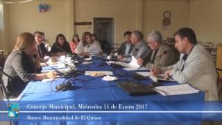 Concejo Municipal, Miércoles 11 de Enero 2017